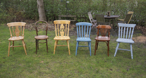 Custom listing for Penny 6 x mismatch vintage dining chairs