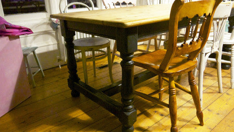 Custom listing for Katrina Refectory dining table and 4 chairs in Miss Mustard Seed Milk Paint