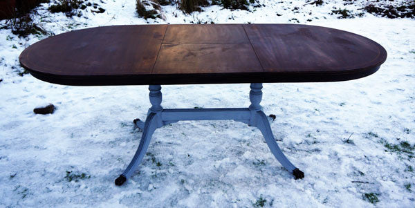 Custom listing for Atif refurbished vintage dining table by Emily Rose Vintage
