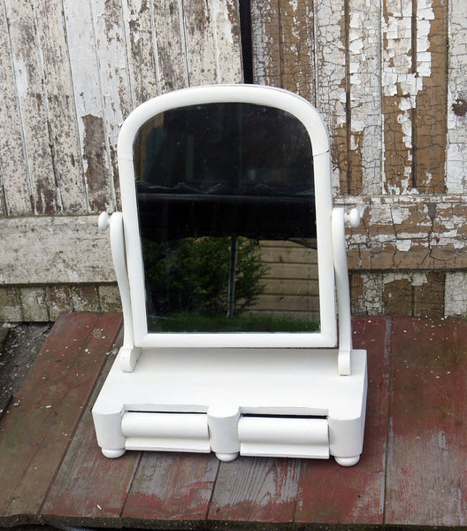 Custom Listing Vintage Dressing Table Mirror in Miss Mustard Seed Milk Paint Linen