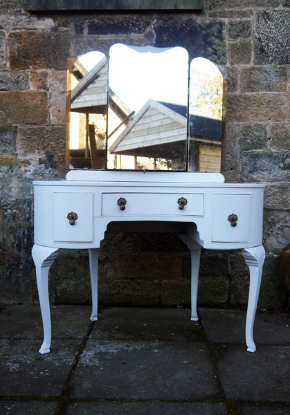 Custom Listing for Jill hand painted vintage dressing table in Fusion Mineral Paint Sterling