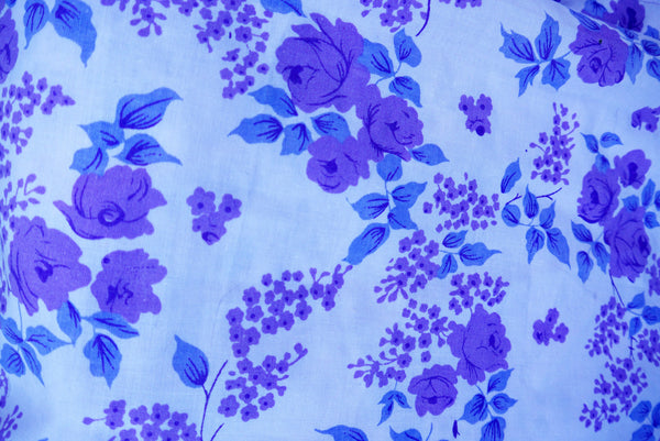 Vintage 1950's double sheet in gorgeous lilac tones
