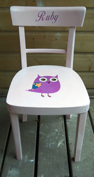 personalised upcycled children's name chair