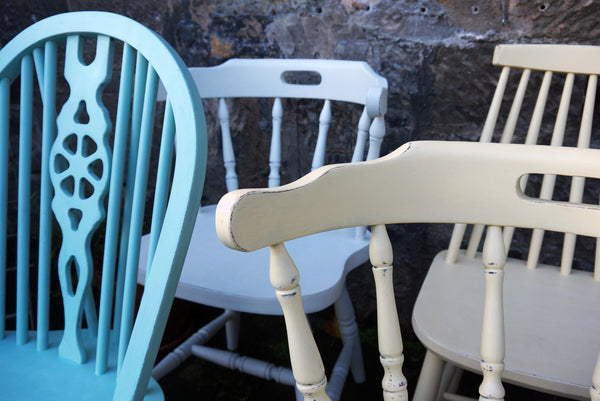 Custom Listing for Jo mismatched vintage dining chairs