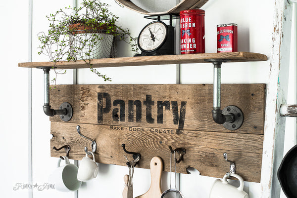 Funky Junk Furniture Stencil Pantry