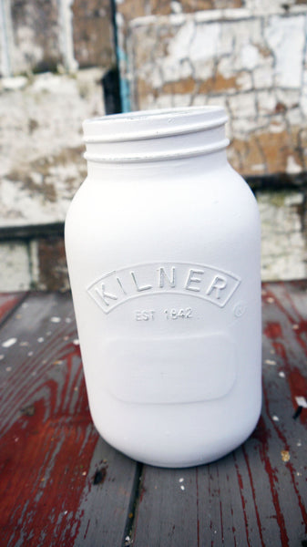 Painted Kilner Mason Jar - painted to order you choose your colours