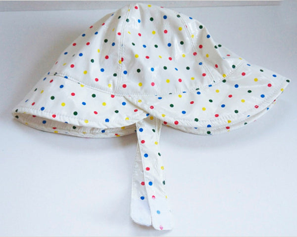 Cute polkadot baby toddlers rain hat