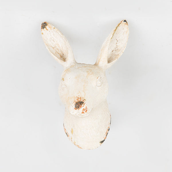 Rabbit Head Boudoir Drawer Knob cream - New rabbit hare animal furniture knob handle