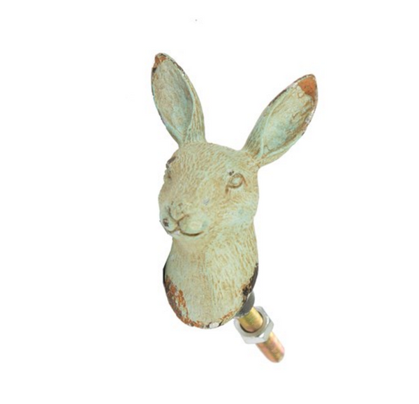 Rabbit Head Boudoir Drawer Knob Duck Egg - New rabbit hare animal furniture knob handle