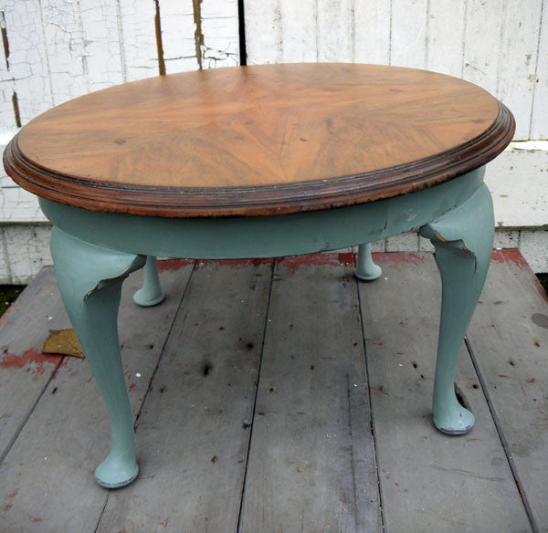 Refurbished Vintage Coffee Table In Annie Sloan Duck Egg Blue Emily Rose Vintage