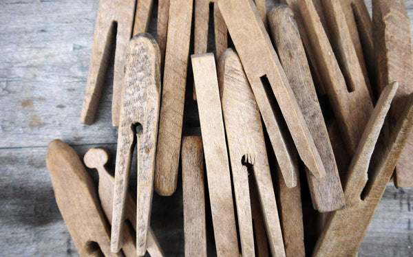 Rustic french vintage clothes pegs