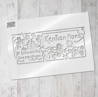 Stencil Studio - Kentish Hops - A4