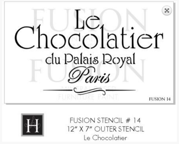 Fusion Mineral Paint Furniture Stencil - Le Chocolatier