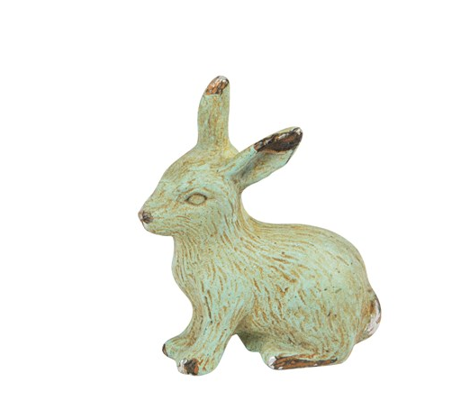 Rabbit  Drawer Knob - New rabbit hare animal furniture knob handles in  Green