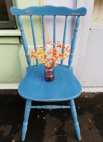 Shabby chic mismatch vintage dining chairs painted to order in Miss Mustard Seed Milk Paint