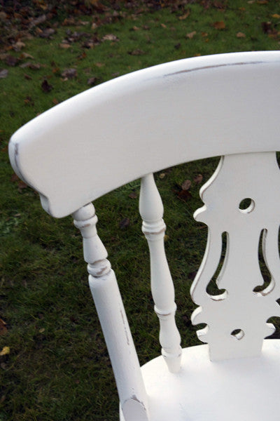 Shabby chic mismatch vintage dining chairs set Made to order by Emily Rose Vintage Annie Sloan paint finish