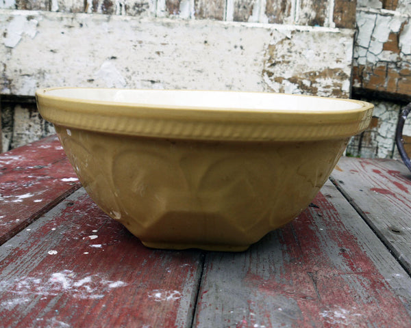 T G Green vintage ceramic brown mixing bowl