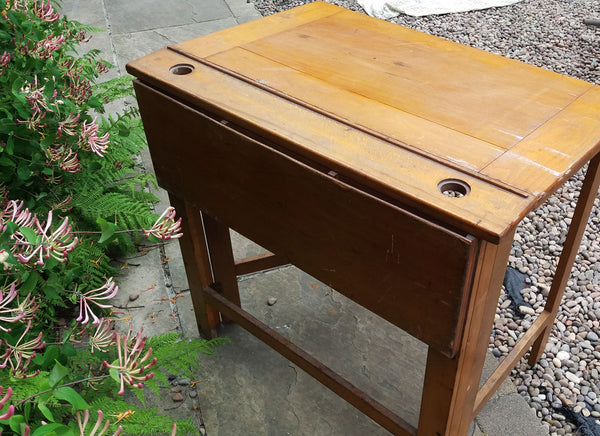 Unusual large wooden school desks  - 2 available