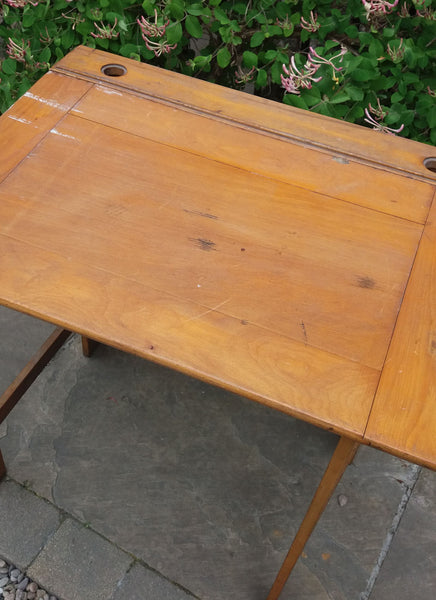 Unusual large wooden school desk