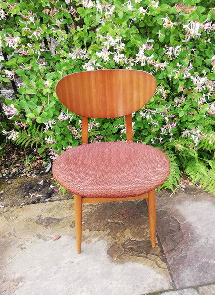 Vintage 1960's mid century chair with original fabric cover