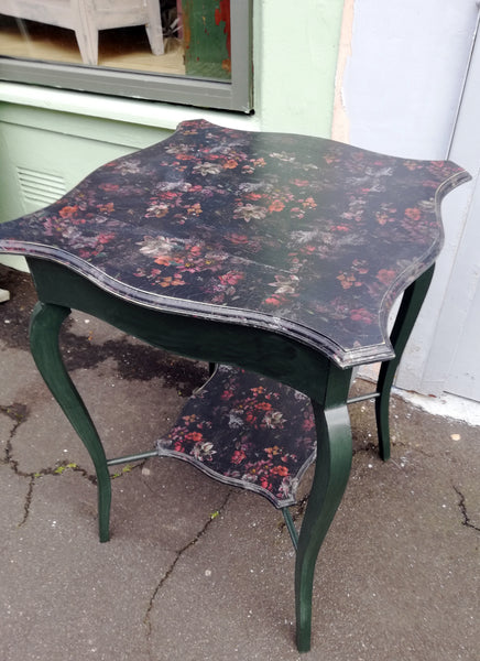 Vintage Boho painted hall / side / occasional table