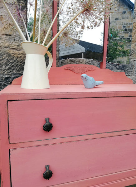 Custom Listing for Fatma Vintage Dressing Table painted in Miss Mustard Seed Milk Paint Apron Strings