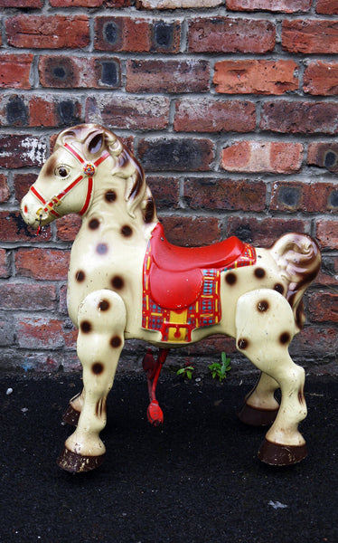 Vintage Mobo Bronco Rustic metal Pedal Horse toy