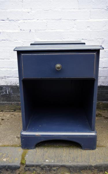 Custom listing for Ammie Vintage blue painted dressing table , candlesticks and bedside cabinet
