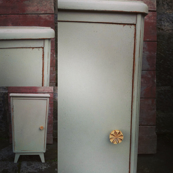 Vintage bedside cabinet hand painted in MIlk Paint