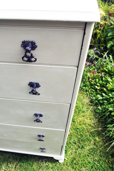 Refurbished antique chest of drawers by Emily Rose Vintage  Vintage chest of drawers in Annie Sloan Old Ochre