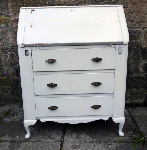 Custom Listing for Jacqueline hand painted dressing table and bureau in Miss Mustard Seed Linen