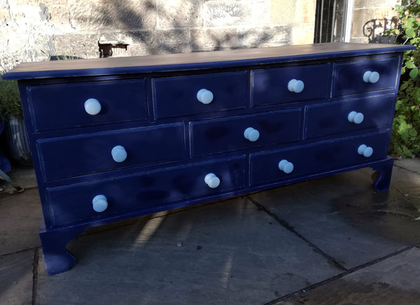 Vintage hand painted multi drawer pine sideboard in Fusion Mineral Paint
