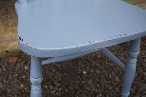Vintage hand painted shabby chic bedroom chair i Saxe Blue By Emily Rose Vintage Glasgow
