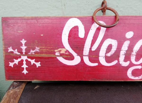 Vintage style Sleigh Rides Christmas Sign