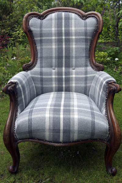 reupholstered arm chair by Emily Rose Vintage