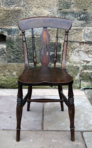 Beautiful antique beech Windsor dining chair