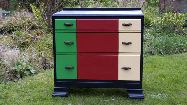 block colour chest of drawers  by Emily Rose Vintage