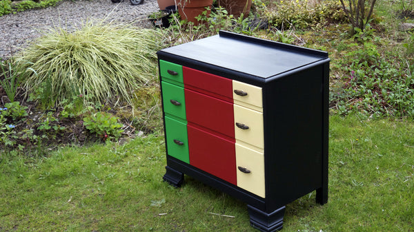 block colour chest of drawers Emily Rose Vintage