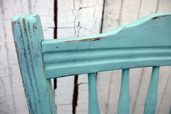 crackle Vintage cafe chairs handpainted in miss mustard seed milk paint by emily rose vintage 4