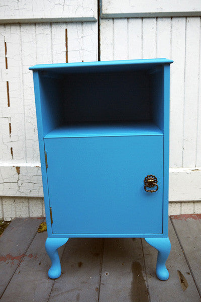hand painted childrens bedside cabinets by emily rose vintage in ecos organic nursery paint