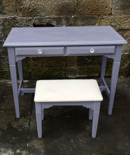 hand painted dressing table in miss mustard seed dried lavender