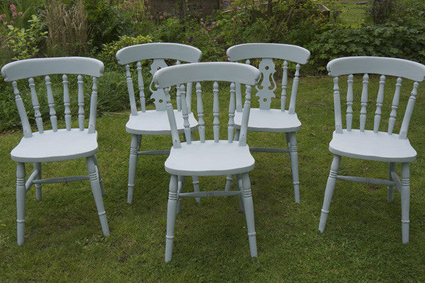 mismatched vintage dining chairs