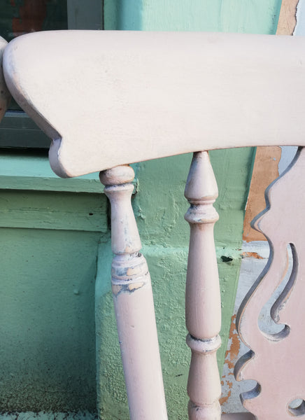 Shabby chic mismatch vintage dining chairs painted to order in Annie Sloan Chalk Paint