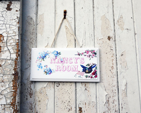 Personalised children's door sign plaque - made to order you choose the theme