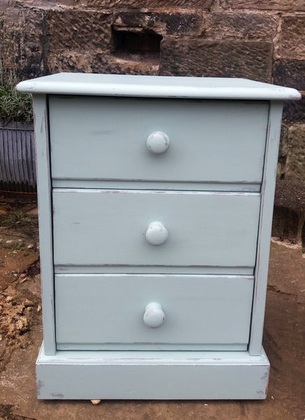 painted bedside table and chest of drawers in Fusion Mineral paint Inglenook