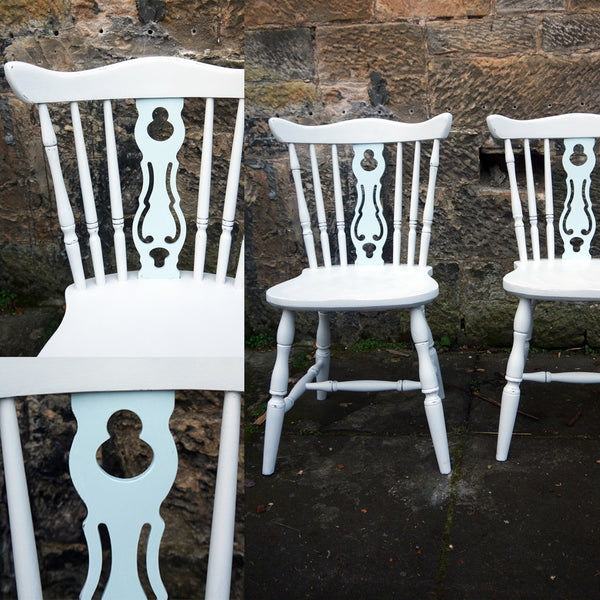 Custom Listing for Elise hand painted vintage farmhouse dining chairs