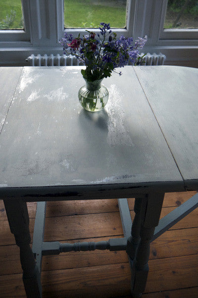 Hand painted shabby chic vintage retro drop leaf dining table