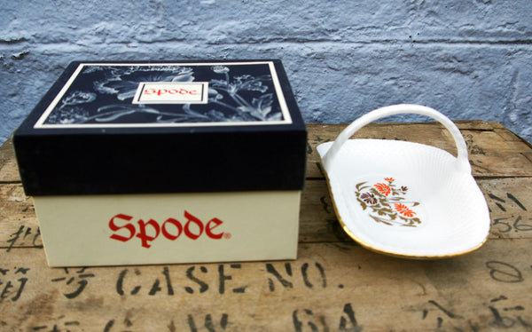 Spode china basket in oroginal box