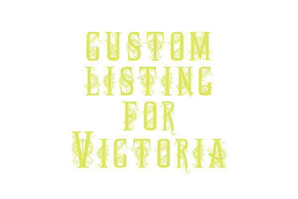 Custom Listing for Victoria hand painted vintage sideboard