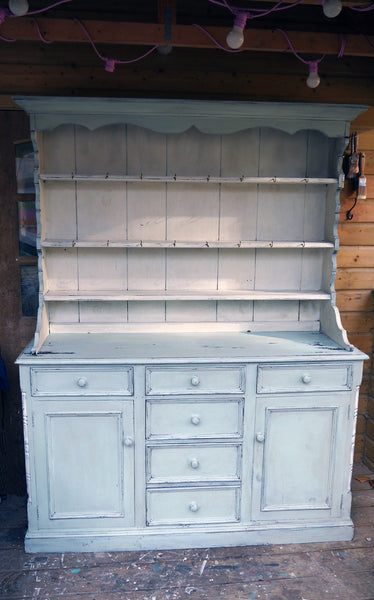 Stunning hand painted Vintage kitchen dresser in Miss Mustard Seed Milk Paint